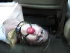 Gagged wife gets kidnapped and roughly raped by a masked guy