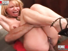 Dude with a huge cock rams the wife's ass and rapes her violently