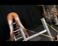 Hot-assed wife gets her asshole toyed and raped by a psycho dude