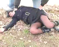 Kidnapped wife in black stockings kidnapped and raped brutally