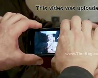 Two dudes poke a bound and gagged wife in a wild rape porn action