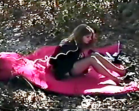 Bitchy wife gets raped in her mouth and pussy in the forest