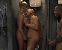 Super sexy wife hard-fucked in prison husband view