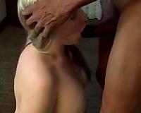 I swallow BBC CUM. MILF on her knees