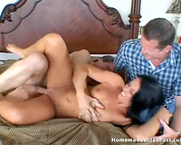 Rachel receives her non-professional cookie screwed like at no time in advance of in cuckold scene
