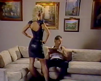 Elegant and marvelous golden-haired sweetheart screwed in a nasty classic porn scene