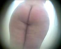 Voyeur hidden web camera in the shower room to catch my preggy wifey