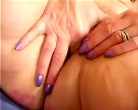 Kinky older woman bonks her taut wet crack with her pink fake penis