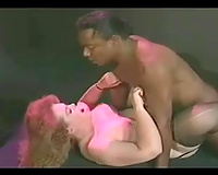 Busty and plump fair haired slut acquires a-hole fucked in doggy style by dark man
