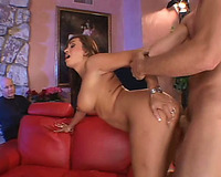 Gorgeous and skillful redhead milf pounded with a large jock