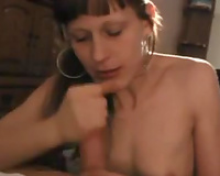 Submissive white black cock sluts gives me head on POV sex tape