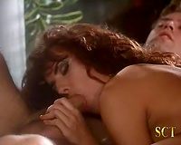 Wild and breathtaking redhead chick drilled by 2 slutty studs
