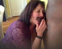 Thick MILF big tits wife fucked nicely
