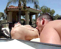 Eating pussy my slutty wife outdoors in Arizona