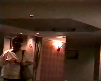 Slutty blonde wife fucks security guard in hotel on vacation