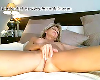 Sexy and pervert 46yo milf wife doing a private cam show