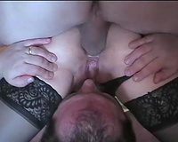 A good bisexual pervert husband cuckold waits under his slutty wife