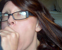 Mature slutty wife sucking hubby cock on camera