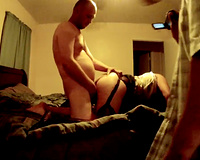Husband sharing his wife and black bull fucks his slut in all her holes