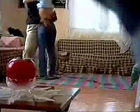 Careless girl acquires screwed doggy style on hidden camera