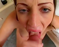 Amazing sex and oral stimulation on POV episode with enchanting cheating wife