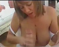 Busty 41 years old blond black cock sluts of my neighbour sucks my thick cock