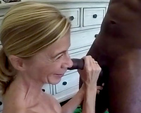 Mature white wife first BBC experiment