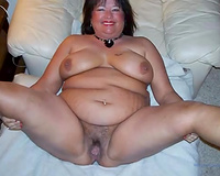 Amateur corpulent bitch flashed her pierced and super meaty hungry cum-hole