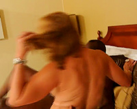 Wife fucks big black cock in front of hubby