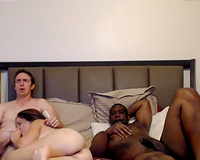 Cock hungry wife with hubby and BBC
