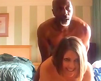 Mature dark guy copulates my twat in a doggy position