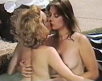 Vintage lesbo milfs jointly in lesbo blow job group sex