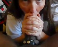 Granny worships young BBC in her mouth