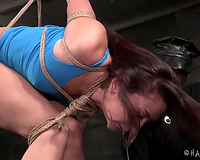 Hot white lady with marvelous flawless a-hole fastened in standing doggy style position