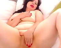 Mature and spoiled breasty floozy on livecam show teasing me