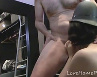 Housewife with a police hat getting fucked hard