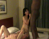Asian wife sucks BBC as hubby licks her from under