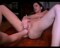 I love to fuck my girlfriend's loose fur pie with a giant marital-device