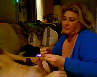 Blonde big beautiful woman sucks my weiner and doesn't want to stop