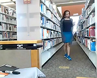 Amazing sexually excited webcam wench stripteased right in the library