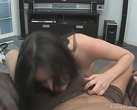 Blowjob from a breasty dilettante girlfriend