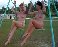 Bunch of undressed and excited playgirl got their moist snatches drilled