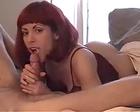 Lusty redhead hooker gives me some head for ten bucks
