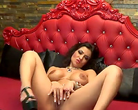 Luxurious Romanian dark brown web camera mother I'd like to fuck masturbated for me merely