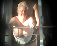 Sex in vacation wife home made porn and balcony (Voyeur get caught)