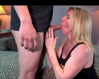 Mature slutty wife fucks a fan with lover