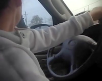 Cheating slut wife in car with lover