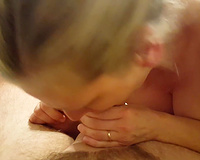 A very nice job worshiping my cock by the wife
