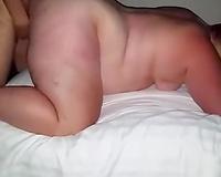 Pawg white BBW slut wife getting filled by 26yo