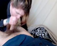 Adorable alt slut wife sucking dick